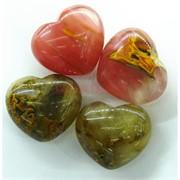 Сердце из натурального халцедона 4x4,5 см