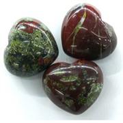 Сердце из натуральной зеленой яшмы 4x4,5 см
