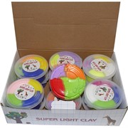 Пластилин легкий Super Light Clay 4 цвета 12 шт/уп