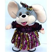Крыса музыкальная (AZ-3067) поющая в юбке символ 2020 года