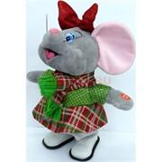 Крыса музыкальная (AZ-3891) поющая с шарфом и бантиком символ 2020 года