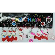 Брелок резиновый плоский «Hello Kitty» 120 шт/уп
