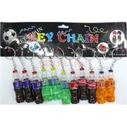 Брелок пластмассовый «Бутылка Пепси, Спрайт, Кола и Фанта» 12 шт/уп