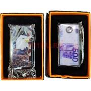 Зажигалка USB спиральная «орлы, евро, доллары и другие»