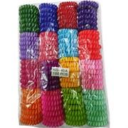 Резинка-пружинка одноцветная малая 100 шт