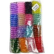 Резинка для волос «пружинка» (1149) прозрачная цена за 100 шт