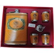Набор «Настоящий мужик» (002-14) фляга 9 унций и 4 стакана