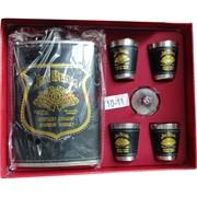 Набор с флягой 8-9 унций «Jim Beam» + 4 стаканчика (D-1708)