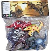 Динозавры малые резиновые набор из 6 шт