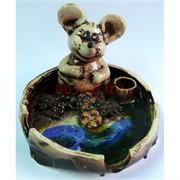 Пепельница Крыса символ 2020 года из глазированной керамики
