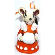 Колокольчик из керамики Крыса символ 2020 года