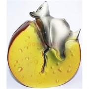 Копилка Крыса с сыром Символ 2020 года керамическая