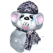 Копилка Крыса с шарфом символ 2020 года керамическая