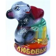 Копилка Крыса с подарочком символ 2020 года керамическая