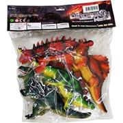 Динозавры резиновые большой набор из 4 штук