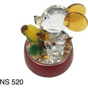 Стеклянная мышка с подсветкой (NS-520) символ 2020 года