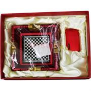 Набор Borui красный «квадратная пепельница+зажигалка»