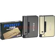 Портсигар-зажигалка Focus с выкидывателем сигарет (JD-YH001)