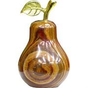 Груша из оникса 15 см (4х6 дюйма) цвет камня в ассортименте