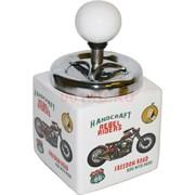 Пепельница керамическая «мотоцикл» нажимная