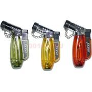 Горелка-зажигалка пластмассовая Xing цветная прозрачная