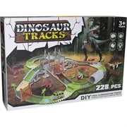 Dinosaur Tracks 228 деталей трасса с машинкой