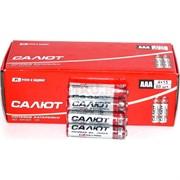 """Батарейки солевые """"Салют"""" AАА, цена за уп 60 шт"""