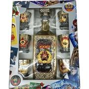 Набор подарочный в золоте СССР Звезда «бутылка + 6 стопок»