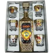 Набор подарочный в золоте СССР Герб «бутылка + 6 стопок»