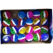 Лизун «двухцветный шарик» средний 24 шт/уп
