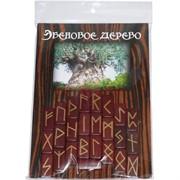 """Набор """"Руны Эбеновое Дерево + брошюра"""""""
