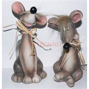 Крыса (мышь) керамическая 22 см 6 шт/уп