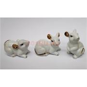 Мышки из белого фарфора 3 шт/набор