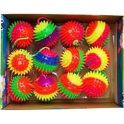 """Мячики светящиеся """"ежики"""" со звуком (AN-64) 80 мм, цена за 12 шт (с резинкой)"""