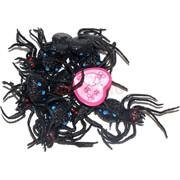 Игрушка резиновая «паук» 10 шт/уп цвета в ассортименте