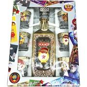 Набор подарочный в золоте СССР Гвардия «бутылка + 6 стопок»
