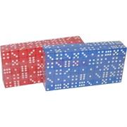 Кости игральные 100 шт (зарики, кубики) 18 мм цветные