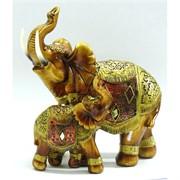 Слоны из полистоуна (KL-513) высота 15,5 см