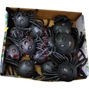 Игрушка антистресс «Паук черный + гидрогель» 12 шт/уп