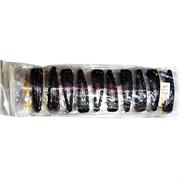 Зажим для волос 6 см (B-420) со стразами цена за 10 шт