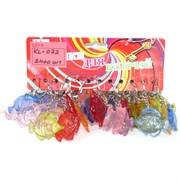 Брелки цветные (KL-072) пластмассовые «Рыбки цветные прозрачные»