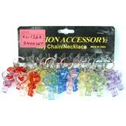 Брелки цветные (KL-1327) пластмассовые «Ключи цветные прозрачные»