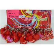 Брелок сердце (HK-1) резиновое красное 120 шт/уп