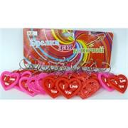 Брелок сердце (HK-1) резиновое I Love You 120 шт/уп