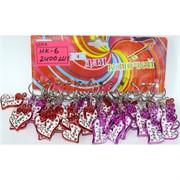 Брелок сердце (HK-6) цветное Love клубника 120 шт/уп