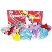 Брелок мягкий «Бабочки, лошадки, мишки» с блестками 120 шт/уп