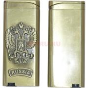 Зажигалка газовая турбо Герб России Russia