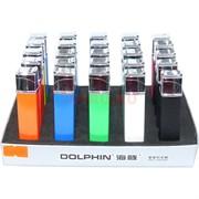 Зажигалка газовая Dolphin 5 цветов квадратная 2 огня