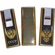 Зажигалка газовая слайдер герб СССР и России