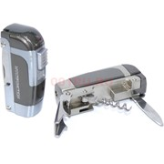 Зажигалка газовая «Нож, открывашка, штопор» турбо